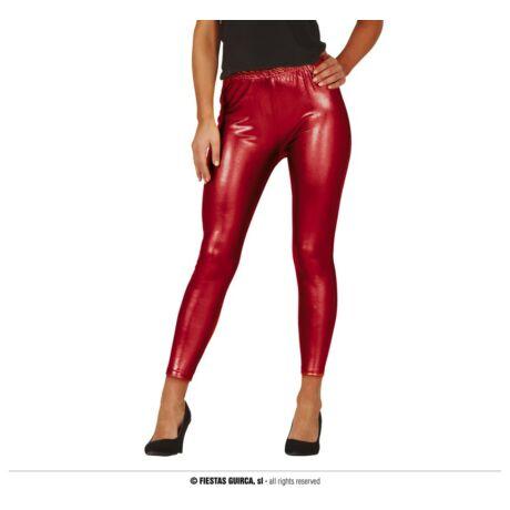 Fényes leggings - piros, vörös