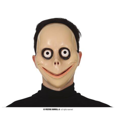 Halloween farsangi jelmez kiegészítő - Ijesztő arc, momo maszk