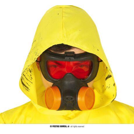 Halloween farsangi jelmez kiegészítő - gázmaszk, vegyvédelmi gáz maszk