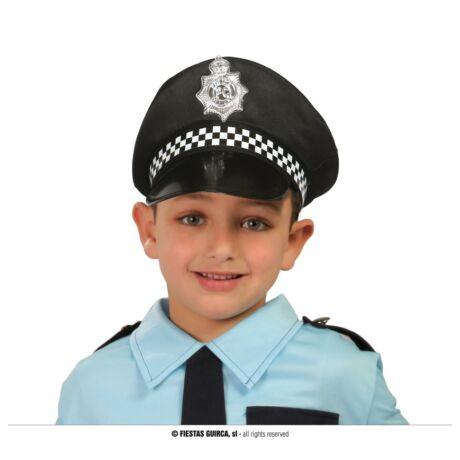Halloween farsangi jelmez kiegészítő - rendőr sapka