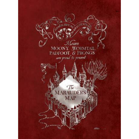 Harry Potter - Tekergők térképe négyzetrácsos 'kockás' füzet - A5