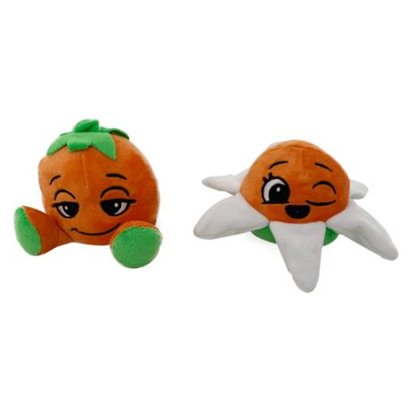 Kifordítható plüss játékfigura gyümölcs - narancs