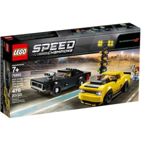 LEGO Speed Champions 75893 - 2018 Dodge Challenger SRT Demon és 1970 Charger RT