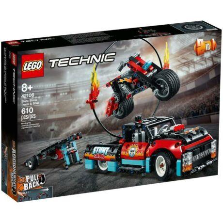 LEGO Technic 42106 - Kaszkadőr teherautó és motor