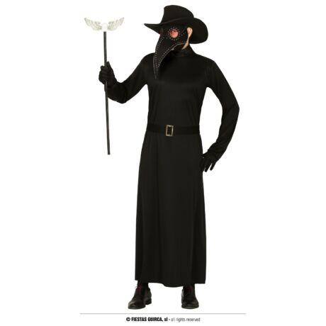 Pestisdoktor pestis doktor halloween farsangi jelmez (felnőtt) (méret:L)