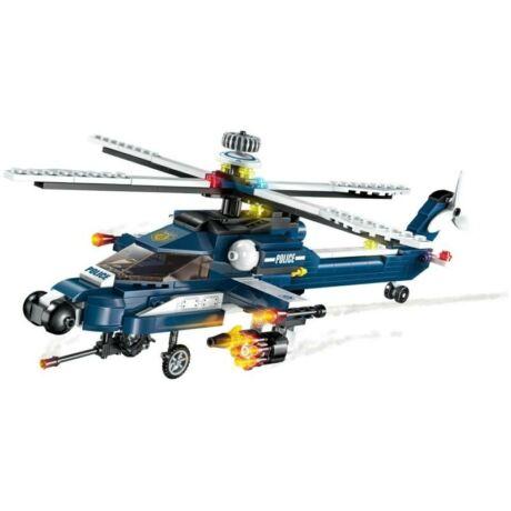 QMAN 1801 - 8 az 1-ben rendőr helikopter építőjáték