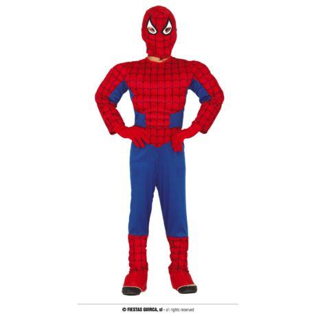 Spiderman Pókember izmos halloween farsangi jelmez - gyerek (méret:S)