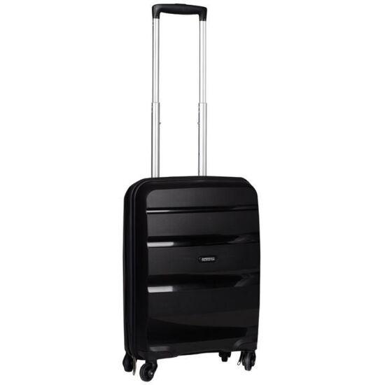American Tourister Bon Air Spinner négy kerekes gurulós bőrönd (Wizzair, Ryanair kézipoggyász méret) fekete