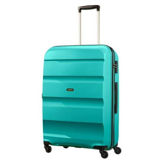 American Tourister Bon Air Spinner négy kerekes gurulós kemény fedeles nagy bőrönd poggyász kék