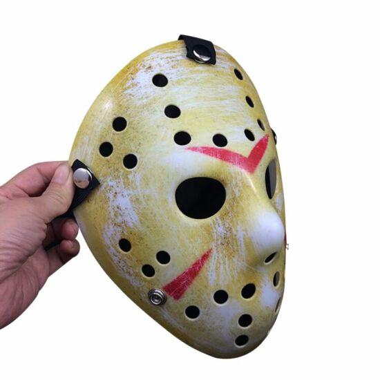 pentek 13 jason maszk halloween feher barna
