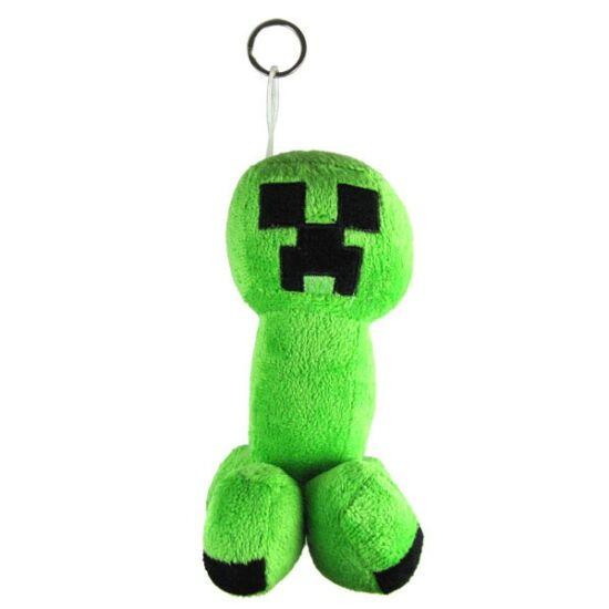 Minecraft plüss - Creeper figura kulcstartóval