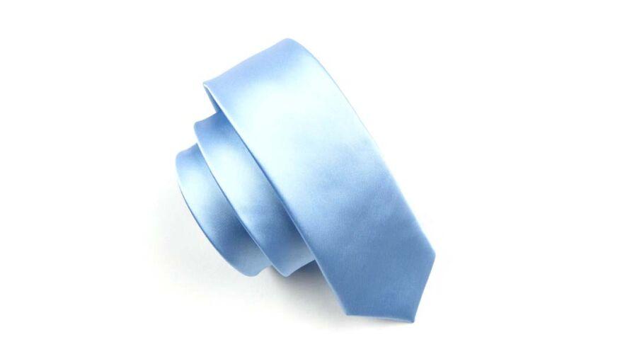 35227d2a72 Keskenyített egyszínű vékony nyakkendő - világoskék - 1.990 Ft